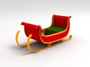 3d santa sleigh model
