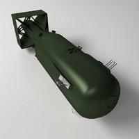 atomic bomb 3d model