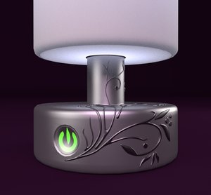 obj table lamp