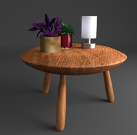 3d small wooden table