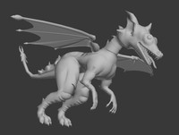 low poly dragon