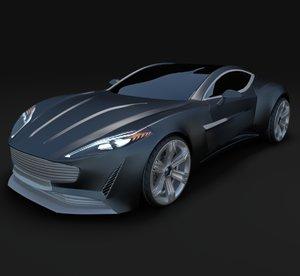 aston martin concept 3d model