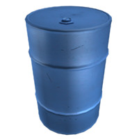blue oil drum 3d model