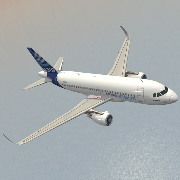 sharkleted a319neo house livery 3d model