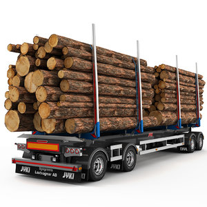 3d timber trailer jyki