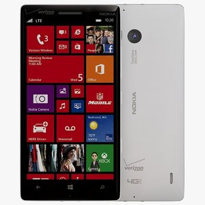 nokia lumia icon white 3d 3ds