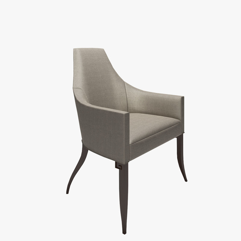 3d model of baker kallisto dining chair