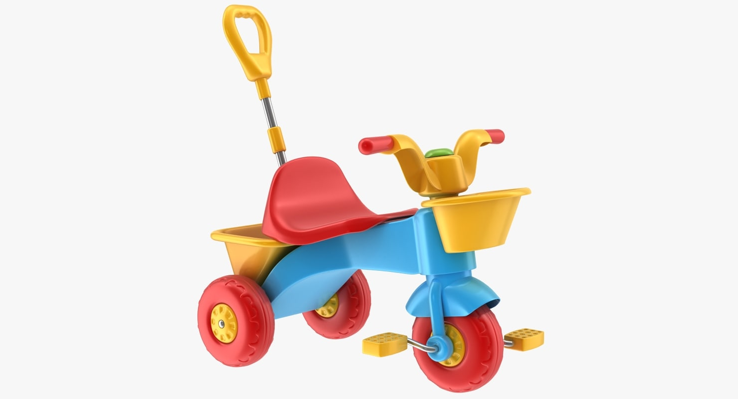 3d tricycle toy model