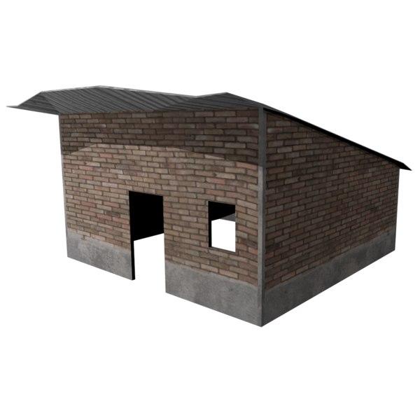shed 3d obj