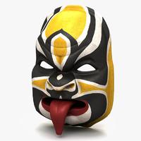asian mask 3d model