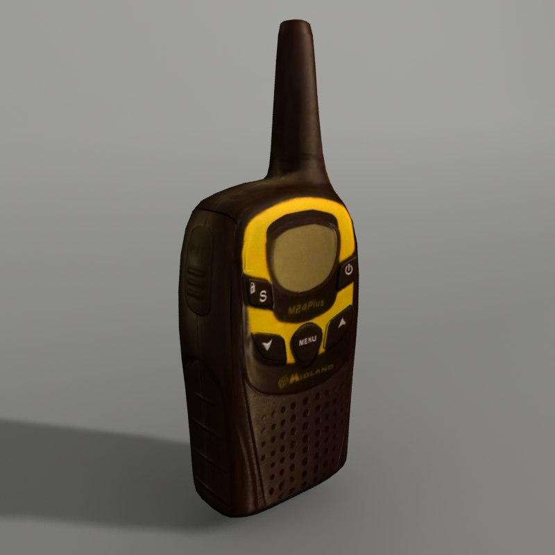 walkie-talkie modeled 3d model