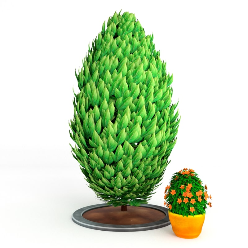 3d model shrub bush plant