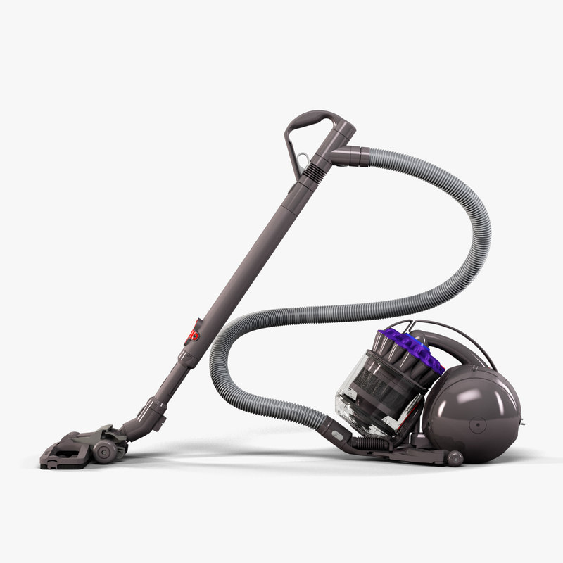 3d model middle-poly vacuum cleaner dyson