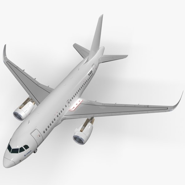 sharkleted airbus a318 - 3d obj