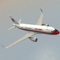 3d model sharkleted a319neo china eastern airlines