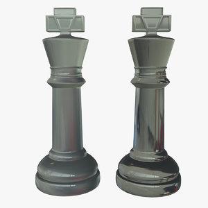 obj glass king chess piece