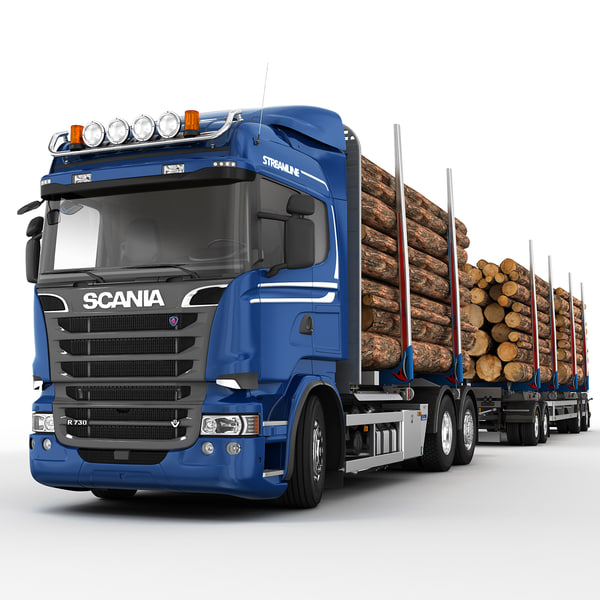 3dsmax scania r 730 timber