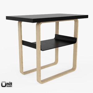 3d model of artek table 916 alvar aalto