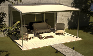 3d awning canopy blind