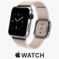 3d apple watch 38mm stainless steel