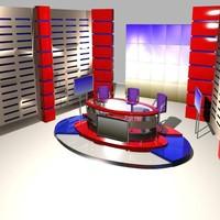 news studio 004 3d obj