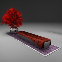 3d x potted autumn maple tree