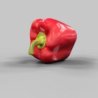 3d model paprika food