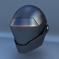 3d robot head h model