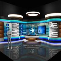 3d news room studio 002