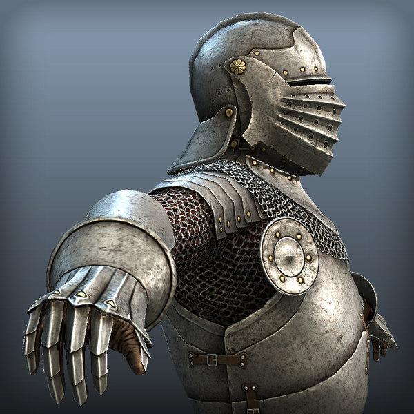 medieval armor 3d model