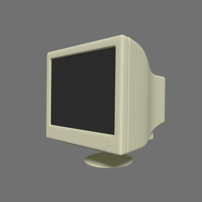 old monitor 3d 3ds