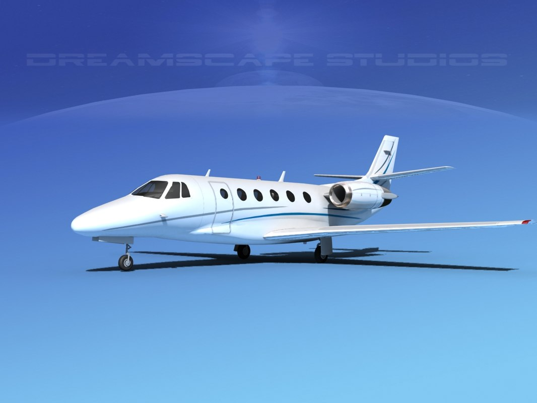 scale cessna citation xls 3d dxf