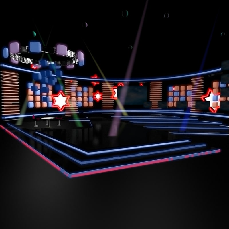 music stage 009 3d model