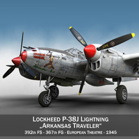 Lockheed P-38 Lightning - Arkansas Traveler
