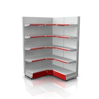 Supermarket Shelf Side Wall Racks_ Corner Racks _90 Degree Racks