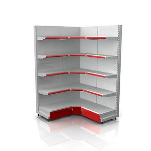 product wall racks corner 3d c4d