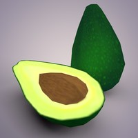 Low Poly Avocado