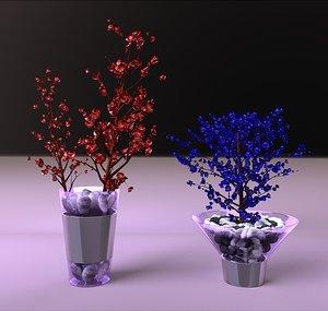centerpiece flowers vases obj