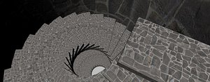 spiral staircase 3d dxf