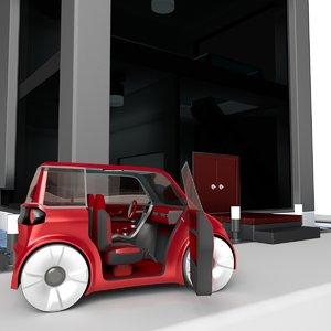 car house blender 3d obj