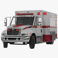 International Durastar Ambulance Rigged 3D Model