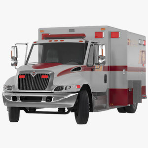 3dsmax international durastar ambulance rigged