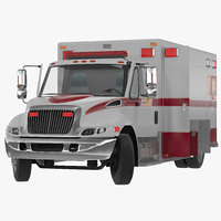 generic ambulance car rigged 3d model
