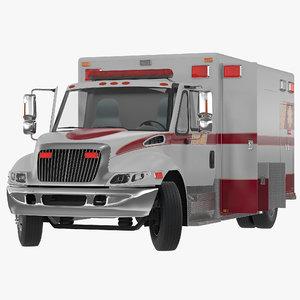 generic ambulance car rigged 3d model