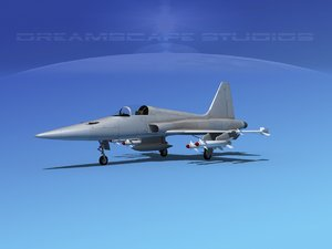 3d f-5 fighter northrop model