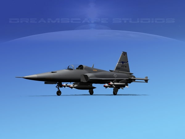 3ds northrop tigershark f-20 fighter