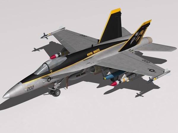 f a-18 hornet 3d model