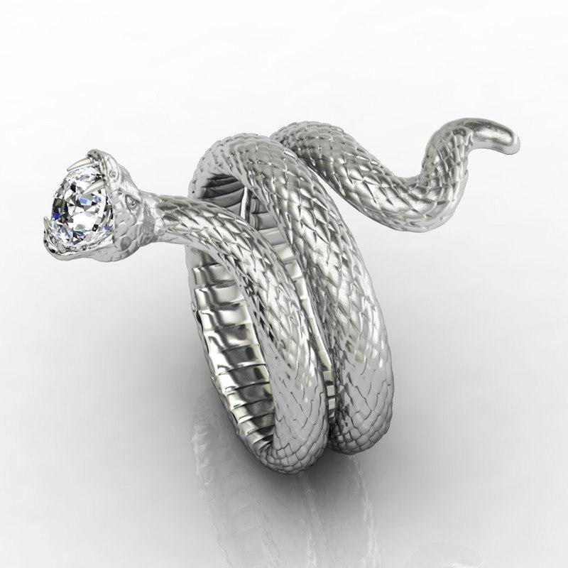 3d snake ring