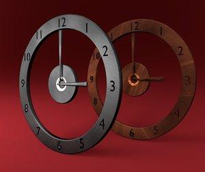 3d 3ds designed generic clock types