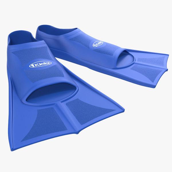 c4d swim fins blue
